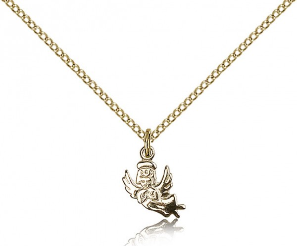 Angel Medal, Gold Filled - Gold-tone