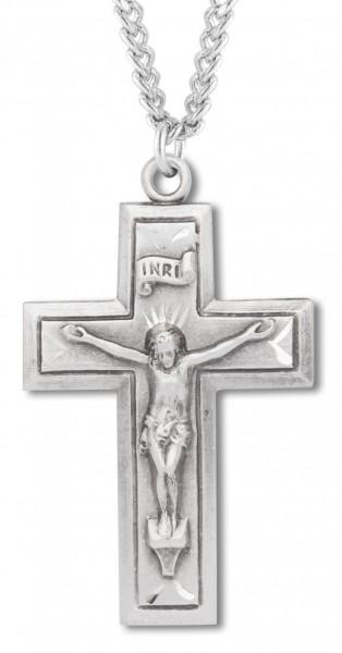 303e3d3e553a Women s or Boys Square Edge Modern Crucifix Necklace