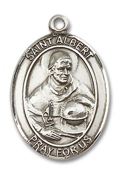 St. Albert the Great Medal, Sterling Silver, Large - No Chain