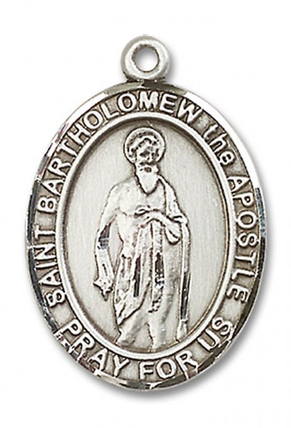 St. Bartholomew the Apostle Medal, Sterling Silver, Large - No Chain