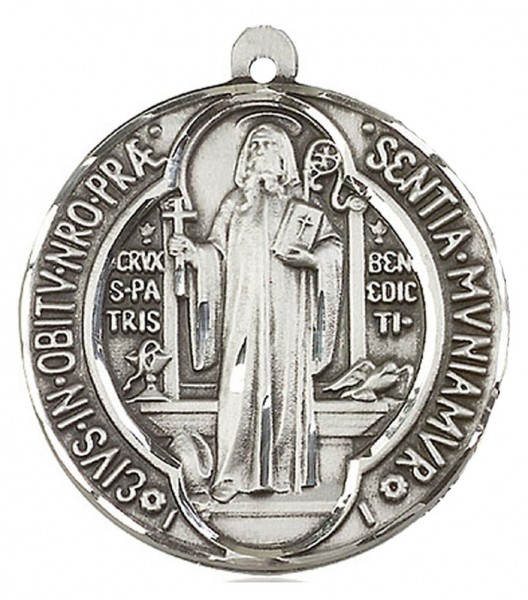 St. Benedict Medal, Sterling Silver - No Chain