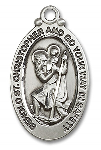 St. Christopher Medal, Sterling Silver - No Chain