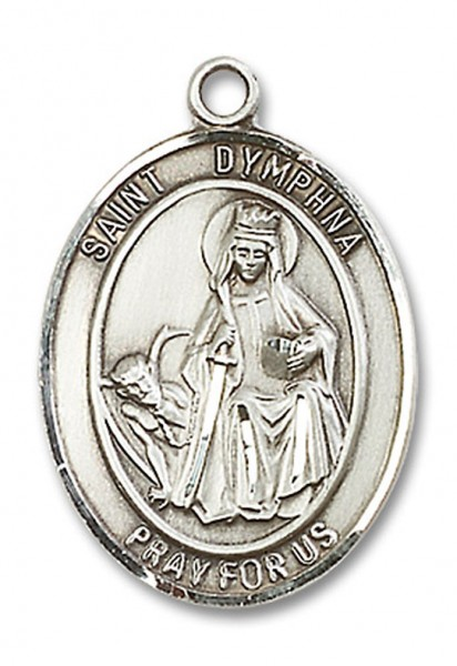 St. Dymphna Medal, Sterling Silver, Large - No Chain