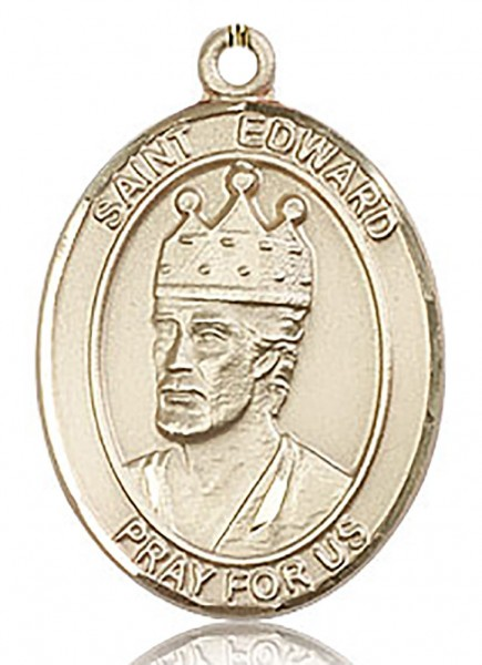 St. Edward the Confessor Medal, Gold Filled, Large - No Chain