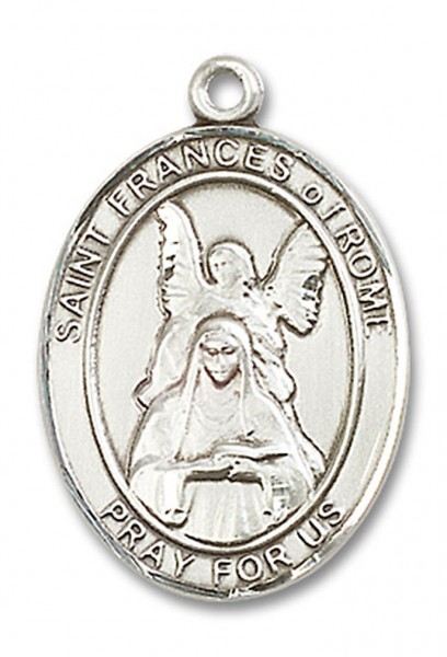 St. Frances of Rome Medal, Sterling Silver, Large - No Chain