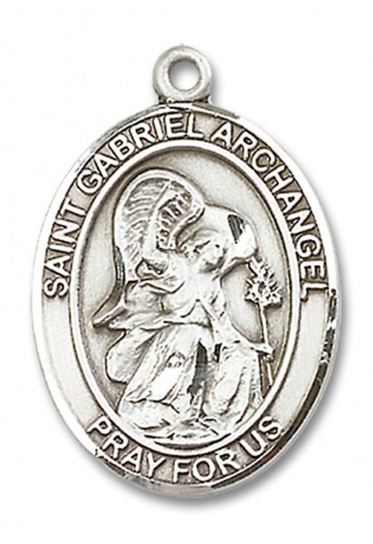 St. Gabriel the Archangel Medal, Sterling Silver, Large - No Chain