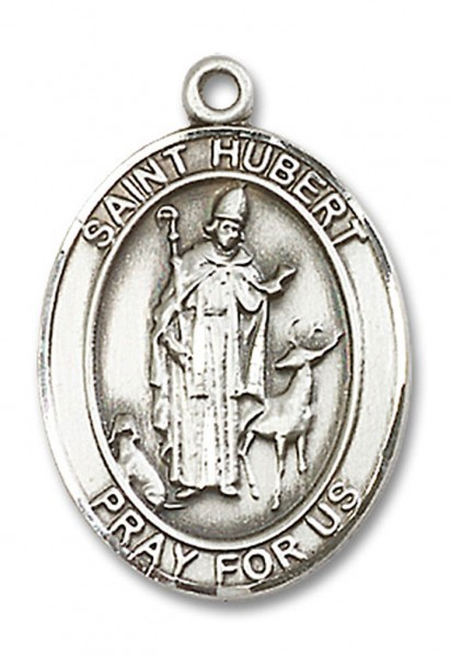 St. Hubert of Liege Medal, Sterling Silver, Large - No Chain