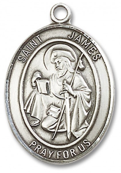 St. James the Greater Medal, Sterling Silver, Large - No Chain