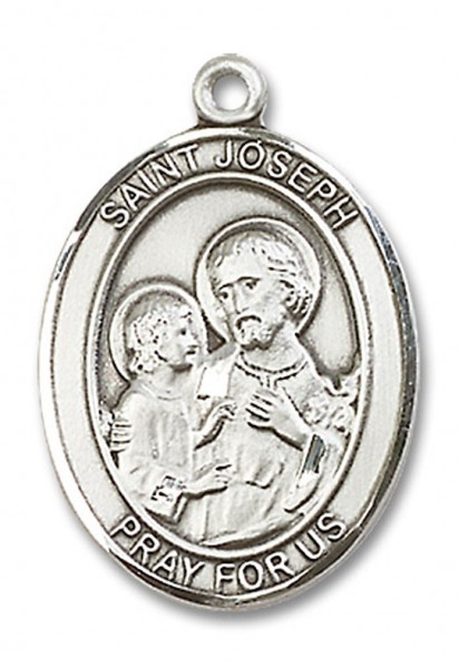 St. Joseph Medal, Sterling Silver, Large - No Chain