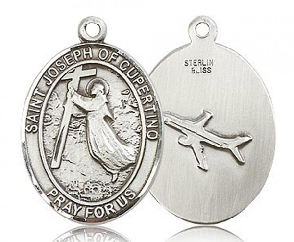 St. Joseph of Cupertino Medal, Sterling Silver, Large - No Chain