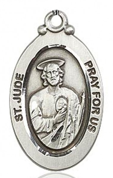 St. Jude Medal, Sterling Silver - No Chain