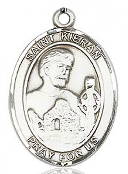 St. Kieran Medal, Sterling Silver, Large - No Chain
