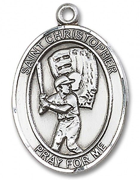 St. Martin of Tours Medal, Sterling Silver, Large - No Chain