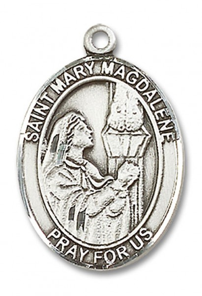 St. Mary Magdalene Medal, Sterling Silver, Large - No Chain