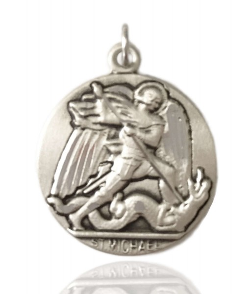 St. Michael the Archangel Medal, Sterling Silver - No Chain