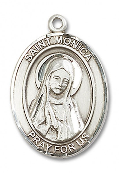 St. Monica Medal, Sterling Silver, Large - No Chain