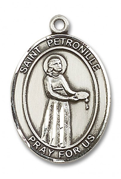 St. Petronille Medal, Sterling Silver, Large - No Chain