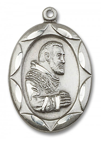 St. Pio of Pietrelcina Medal, Sterling Silver - No Chain