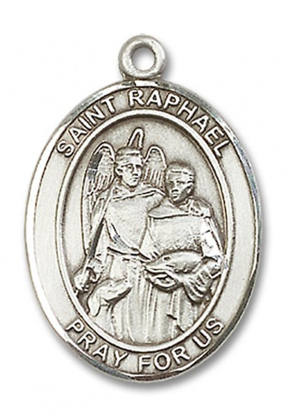 St. Raphael the Archangel Medal, Sterling Silver, Large - No Chain
