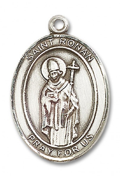 St. Ronan Medal, Sterling Silver, Large - No Chain