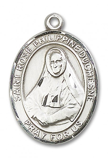 St. Rose Philippine Medal, Sterling Silver, Large - No Chain
