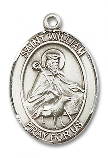 St. William of Rochester Medal, Sterling Silver, Large - No Chain