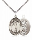 Boy's Pewter Oval St. Christopher Golf Medal