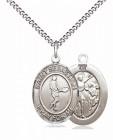 Boy's Pewter Oval St. Sebastian Tennis Medal