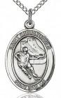 Boy's Sterling Silver Saint Christopher Hockey Medal