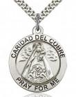 Caridad Del Cobre Medal, Sterling Silver