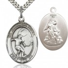 Guardian Angel Soccer Medal, Sterling Silver, Large