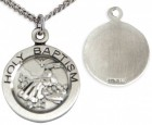 Youth Sterling Silver Baptism Necklace with Chain Options