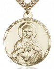 Immaculate Heart of Mary Medal, Gold Filled