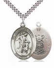 Men's Pewter Oval Guardian Angel Air Force Medal