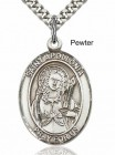 Men's Pewter Oval St. Apollonia Medal