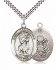 Men's Pewter Oval St. Christopher Army Medal