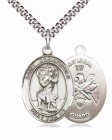 Men's Pewter Oval St. Christopher National Guard Medal