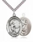 Men's Pewter Oval St. Christopher Soccer Medal