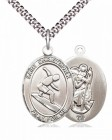 Men's Pewter Oval St. Christopher Surfing Medal