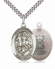 Men's Pewter Oval St. George Air Force Medal