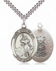 Men's Pewter Oval St. Joan of Arc Air Force Medal
