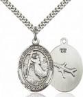 Men's Pewter Oval St. Joseph of Cupertino Medal