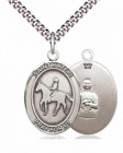 Men's Pewter Oval St. Kateri Equestrian Medal