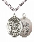 Men's Pewter Oval St. Michael Army Medal