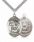 Men's Pewter Oval St. Michael Coast Guard Medal
