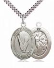 Men's Pewter Oval St. Sebastian Gymnastics Medal