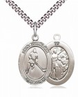 Men's Pewter Oval St. Sebastian Ice Hockey Medal