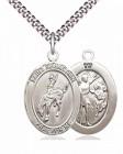 Men's Pewter Oval St. Sebastian Rodeo Medal