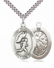 Men's Pewter Oval St. Sebastian Track and Field Medal