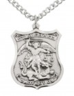 Men's Sterling Silver St Michael Medal